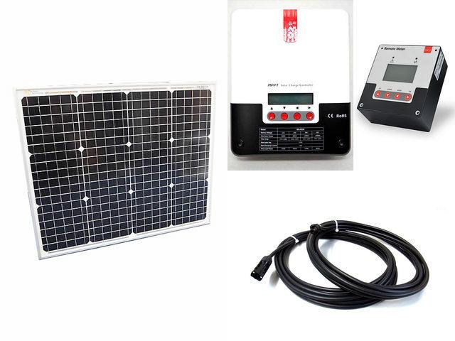 ソーラーパネル50W(35.5V)×2枚 (100W)+SR-ML4830+SR-RM-5