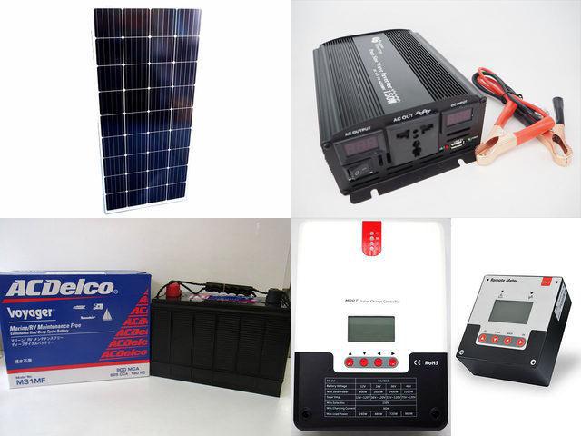 160W×15枚(2,400W) 太陽光発電システム(48V仕様) YB3600 SR-ML4860+SR-RM-5
