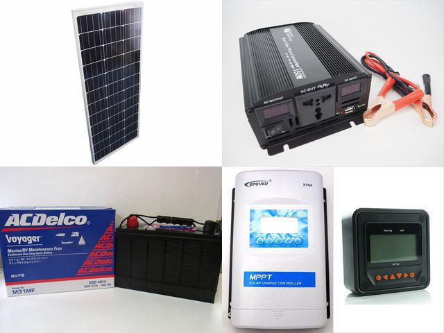 100W×10枚 (1,000W) 太陽光発電システム(48V仕様) YB3600 XTRA3415N-XDS2(30A)+ MT50の写真です。