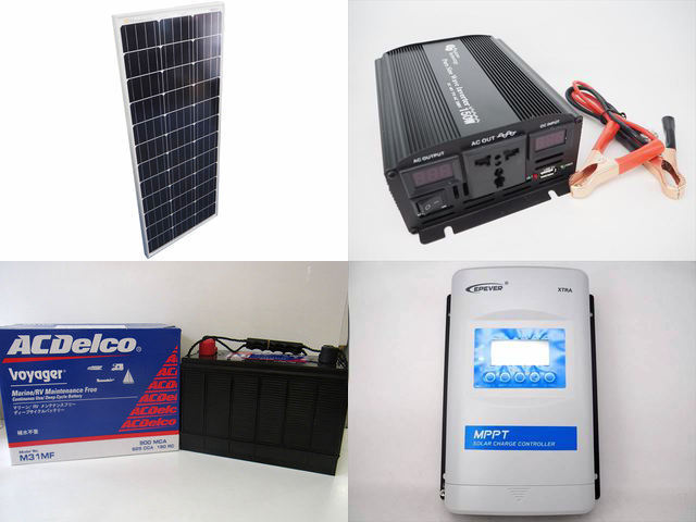 100W×10枚(1,000W) 太陽光発電システム(48V仕様) YB3600 XTRA4415N-XDS2(40A)の写真です。