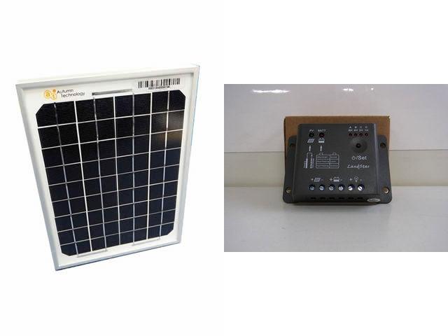 ソーラーパネル5W+LS0512R(5A)の写真です。