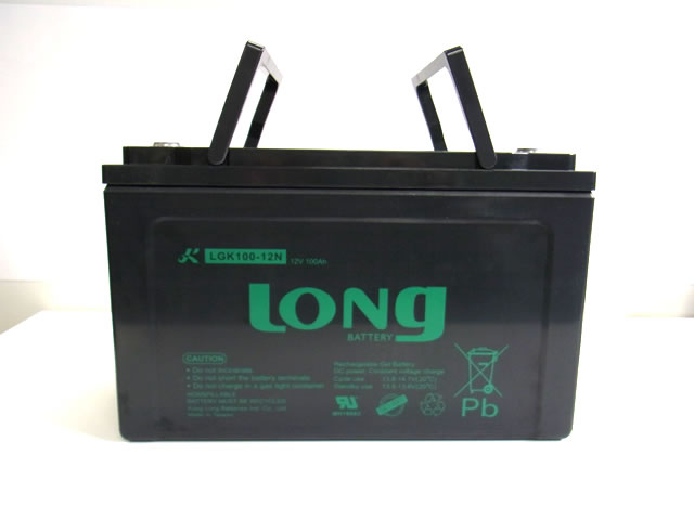 LONG 12V100Ah GEL式バッテリー (LGK100-12N)の写真です。