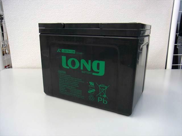 LONG 12V75Ah GEL式バッテリー (LGK75-12N)の写真です。