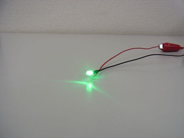 12V用 緑LED 5mm 10個セットの写真です。