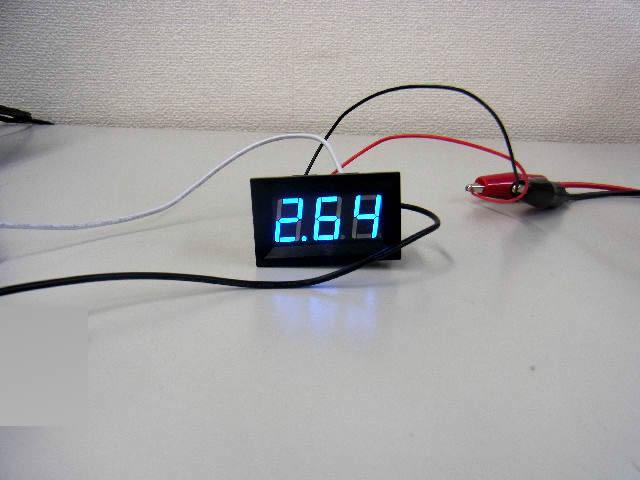 デジタル電流計パネルメーター(DC0〜9.99A)青の写真です。