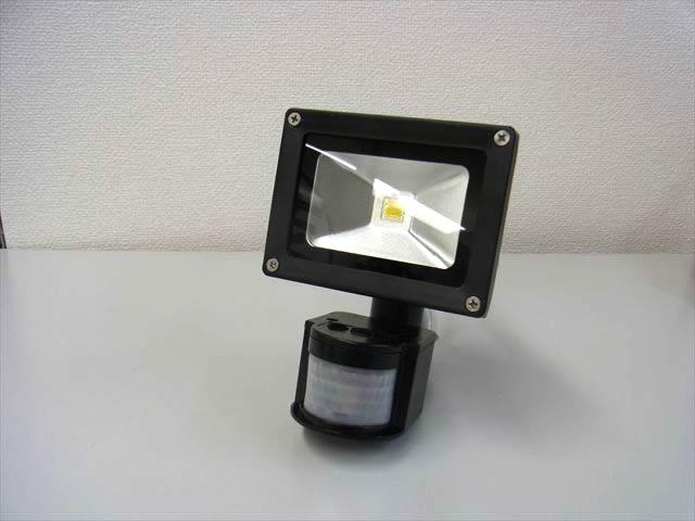 10W モーションセンサー付き 防水LEDライト(AC85〜265V)の写真です。