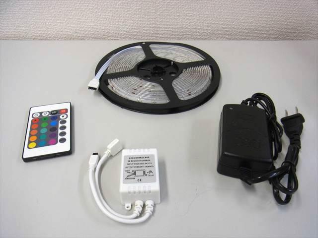 ACアダプター付き LEDテープライト 3528 RGB SMD 5メートル ※防水の写真です。