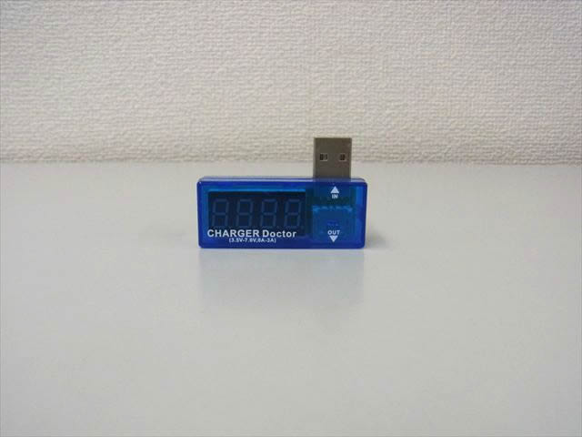USB 電圧計&電流テスターの写真です。