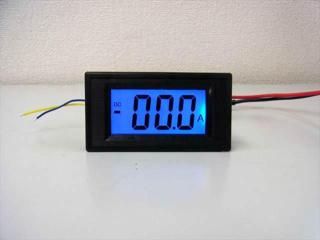 デジタル電流計パネルメーター(DC 0〜+/-100A) ※シャント抵抗付きの写真です。