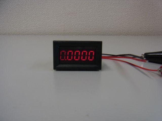デジタル電流計パネルメーター(DC0〜3.0000A)赤 ※電源DC3.5V〜30Vの写真です。