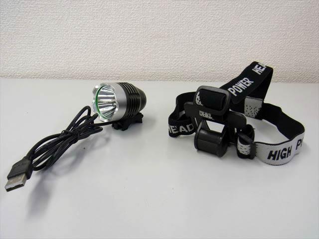 CREE XML-T6 USB 5V LEDヘッドライト(1200LM)の写真です。