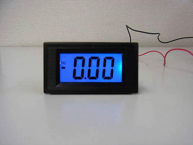 デジタル電流計パネルメーター(DC 0〜+/-5A)※シャント抵抗不要の写真です。