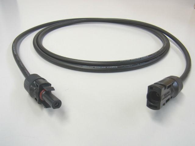 両端 MC4コネクター圧着済み 2SQソーラー延長ケーブル 2mの写真です。