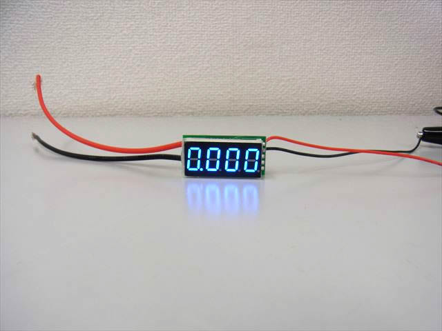 シャント抵抗内蔵 デジタル電流計メーター(DC0〜10A)青の写真です。