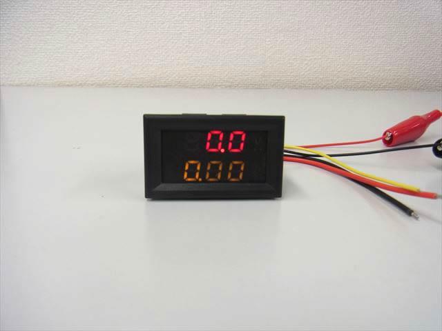 デジタル電圧計&電流計 パネルメーター(10A:DC0V-100V) ※赤+黄の写真です。
