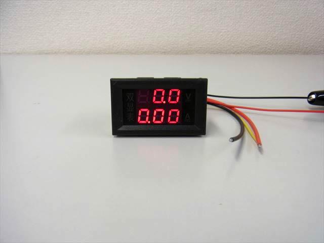 デジタル電圧計&電流計 パネルメーター(10A:DC0V-200V) ※赤の写真です。