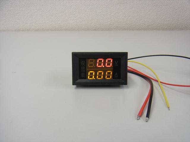 デジタル電圧計&電流計 パネルメーター(10A:DC0V-200V) ※赤+黄の写真です。