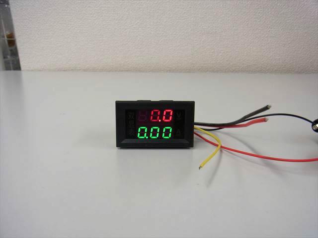デジタル電圧計&電流計 パネルメーター(10A:DC0V-200V) ※赤+緑の写真です。