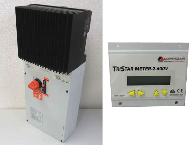 MPPTチャージコントローラー トライスター TS-MPPT-60-600V-48-DB+リモートメーター TS-M-2-600V(MORNINGSTAR:アメリカ製)