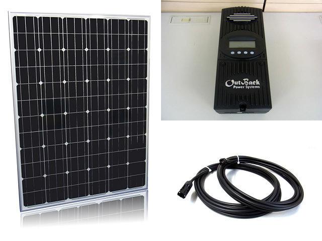 ソーラーパネル200W×16枚(3,200W)+OutBack Power FlexMax60(60A)の写真です。