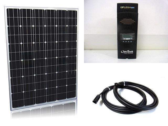 ソーラーパネル200W×16枚(3,200W)+OutBack Power FlexMax80(80A)の写真です。