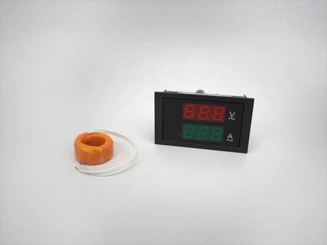 AC用デジタル電圧計&電流計(100A:AC80V〜300V) DL85-2042の写真です。