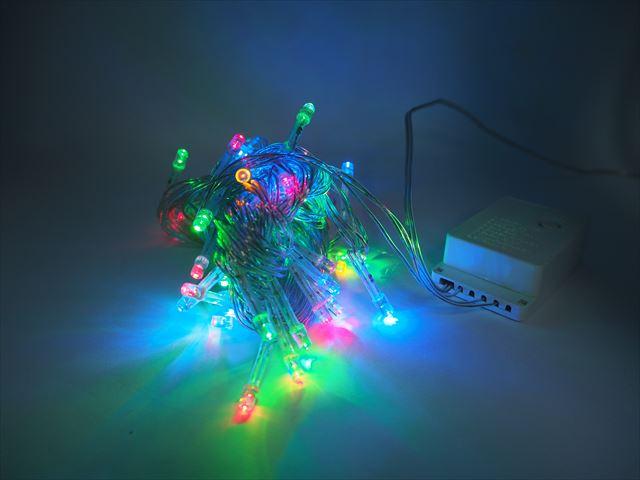 AC100V デコレーション用 LEDストリングライト(RGB) 8m