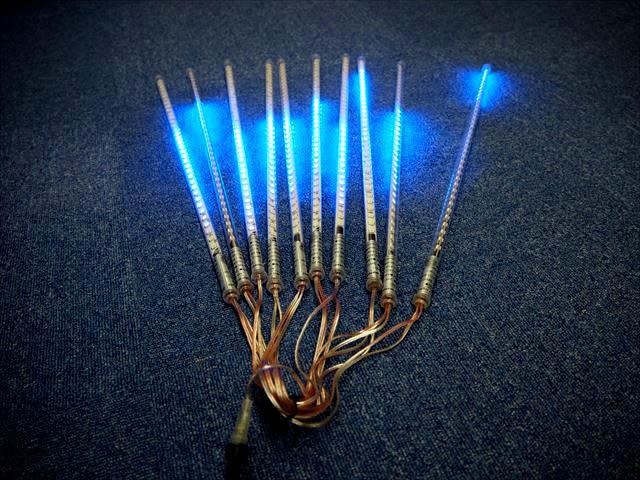 12V専用 吊り下げ型型電飾LEDバーライト 40W 10本セット ※青の写真です。