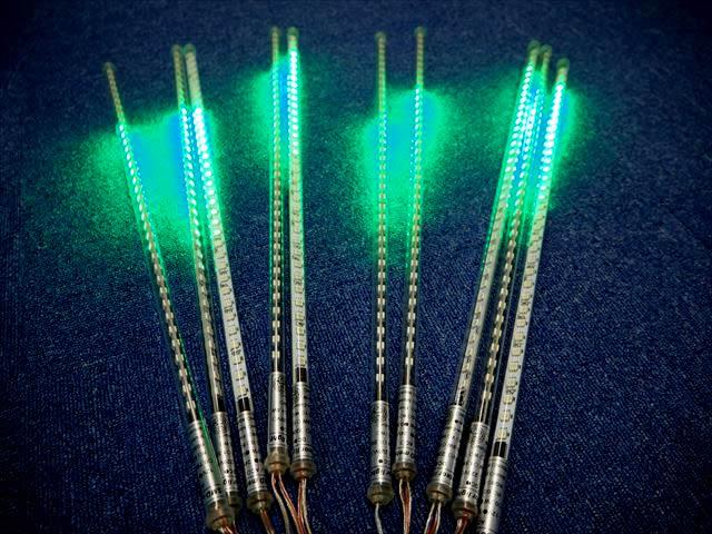 12V専用 吊り下げ型電飾LEDバーライト 40W 10本セット ※緑の写真です。