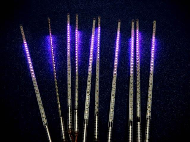 12V専用 吊り下げ型電飾LEDバーライト 40W 10本セット ※マルチカラーの写真です。