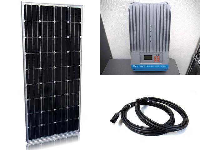 ソーラーパネル160W×2枚(320Wシステム:24V仕様)+eTracer ET4415BNDの写真です。