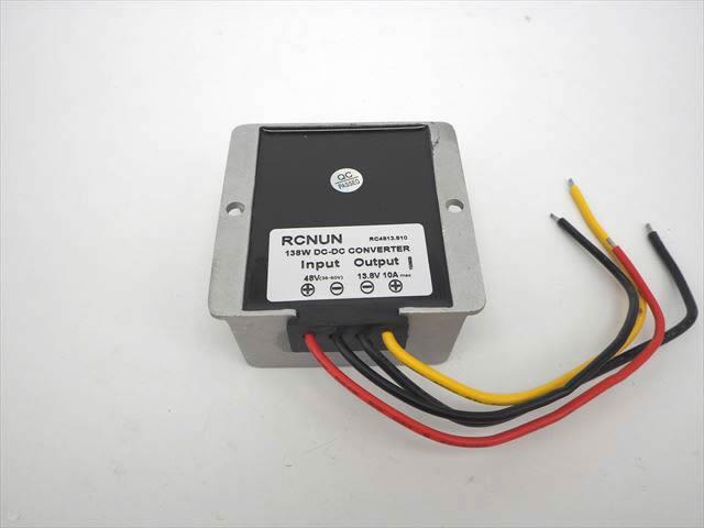 DC-DCコンバーター/ステップダウンコンバーター(DC35V〜60V→DC13.8V) 10Aの写真です。