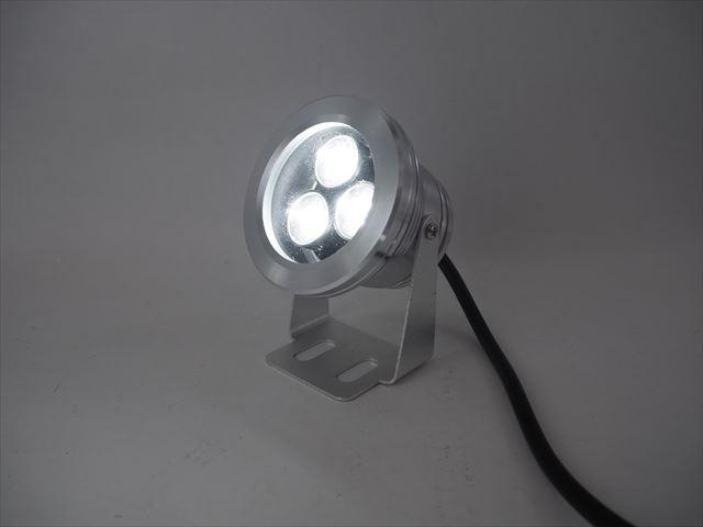 12V専用 3W 防水LEDライト ※Cold Whiteの写真です。