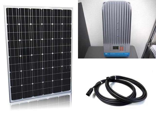 ソーラーパネル200W×16枚(3,200W)+eTracer ET6415BND(60A)の写真です。