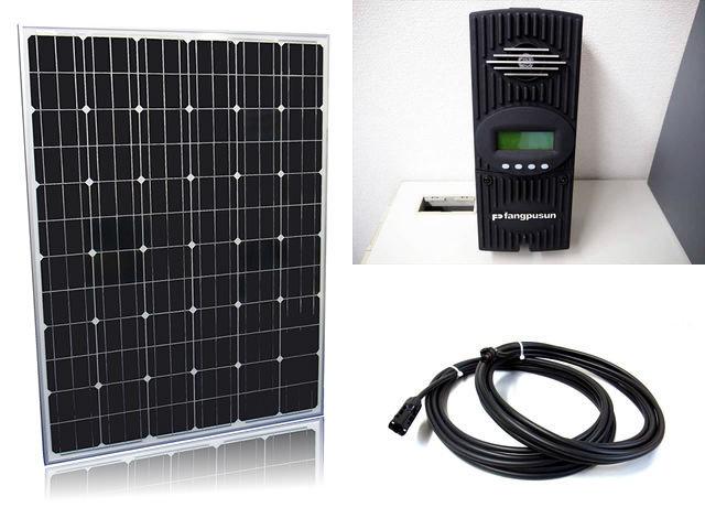 ソーラーパネル200W×16枚(3,200W)+Fangpusun FlexMax60(60A)の写真です。