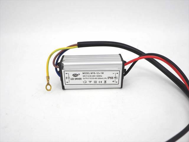 10W LEDドライバー 300mA(AC85〜265V→DC30V〜45V) MY8-12×1Wの写真です。