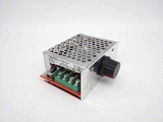 モータースピードコントローラースイッチ(DC7V〜60V) 20A ※RUN/STOP/BRAKE スイッチ付きの写真です。
