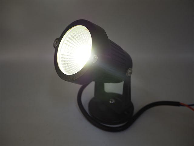 12V専用 3W 防水LEDスポットライト(300LM) ※Warm Whiteの写真です。