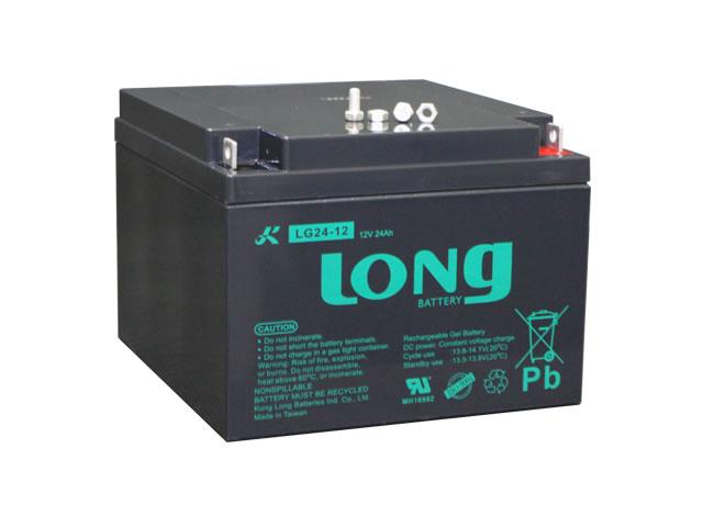 LONG 12V24Ah GEL式バッテリー (LG24-12)の写真です。