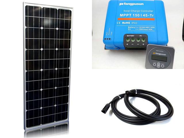 ソーラーパネル100W×4枚(400W:4直列)+Fangpusun MPPT150/45-Tr(45A)+ リモートコントローラー MPPT CONTROL