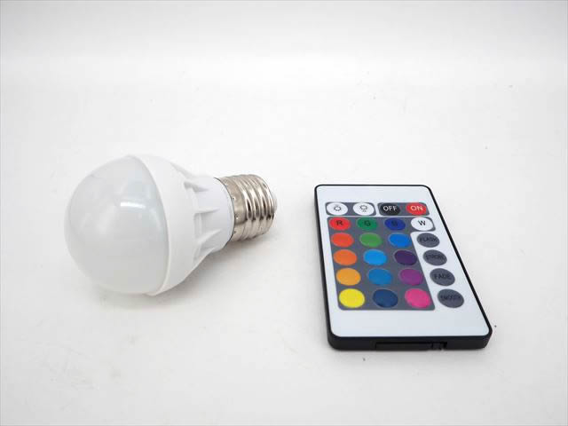 AC85〜265V用 5W RGB LEDライト ※リモートコントローラー付の写真です。