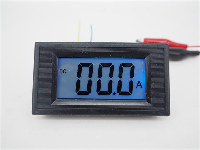 デジタル電流計パネルメーター(DC 0〜+/-200A) ※シャント抵抗付きの写真です。