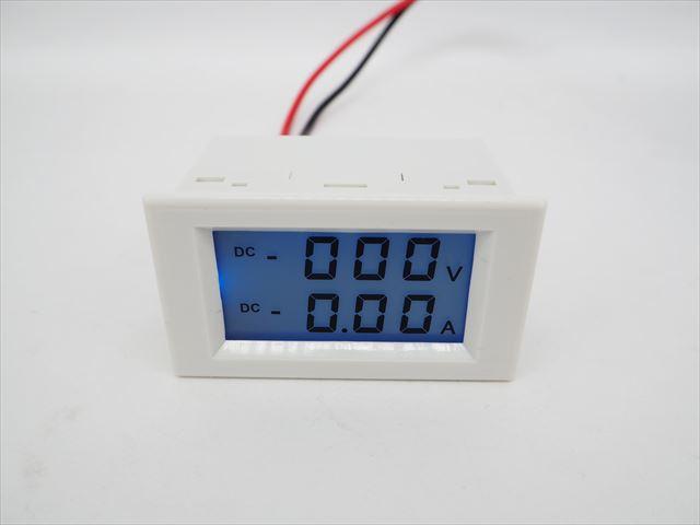 デジタル電圧計&電流計 パネルメーター(10A:DC0V-600V) ※シャント抵抗不要の写真です。