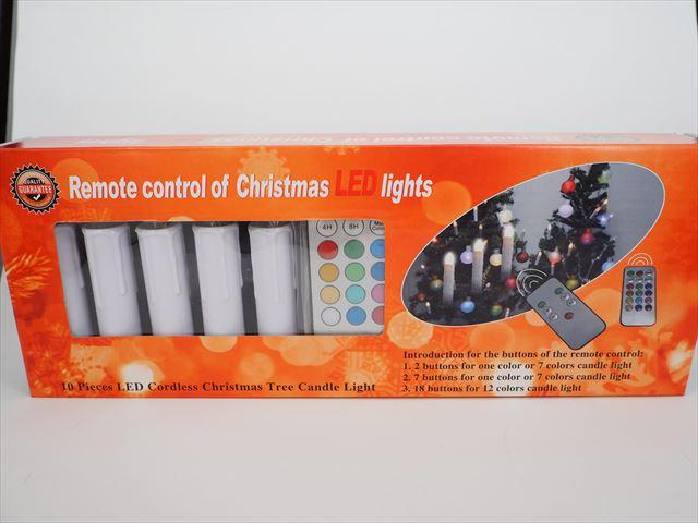キャンドル型LEDライト ホームツリーデコレーション ※リモートコントローラー付の写真です。