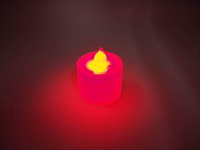 キャンドル型 デコレーションLEDライト ※Redの写真です。