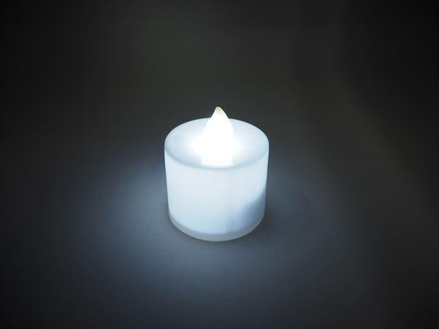 キャンドル型 デコレーションLEDライト ※Whiteの写真です。