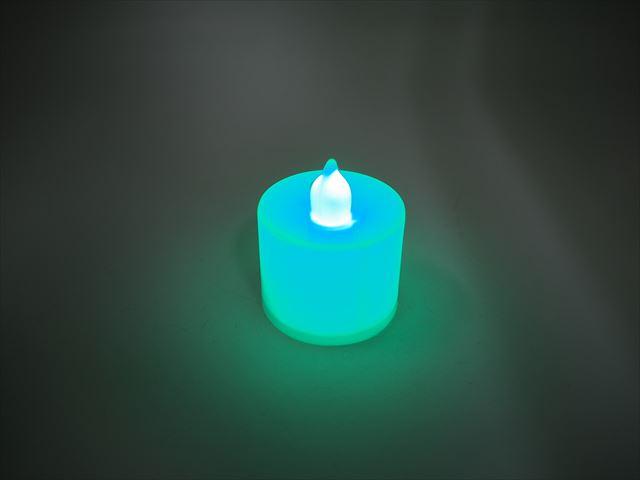 キャンドル型 デコレーションLEDライト ※Greenの写真です。