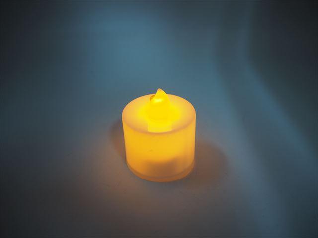 キャンドル型 デコレーションLEDライト ※Yellowの写真です。