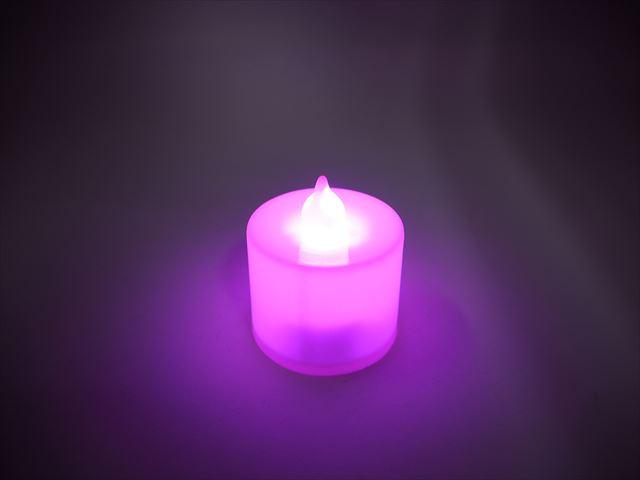 キャンドル型 デコレーションLEDライト ※Pinkの写真です。