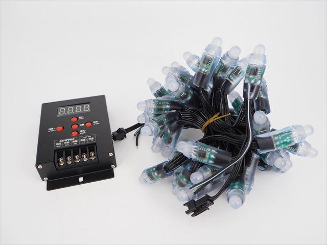 DC5V用 RGB LEDストリングライト 5m ※ICチップ:WS2811+LEDコントローラー T-500セットの写真です。